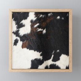 Cowhide Farmhouse Decor Framed Mini Art Print
