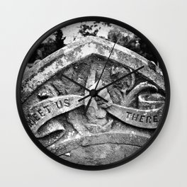 Meet Us There Wall Clock