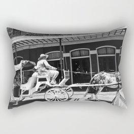 Mule Drawn Carriage Rectangular Pillow