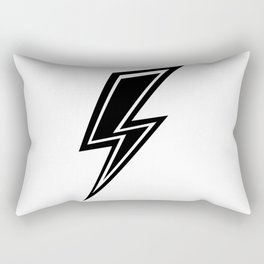 Lightning - Black and White Rectangular Pillow