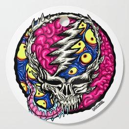 Trippy Skull Cutting Board