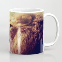 lion Mugs featuring Lion by Jazza Vock