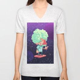 Einstein in Space Unisex V-Neck