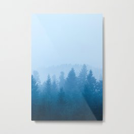 Fog over forest Metal Print
