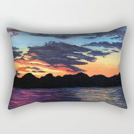 Cabin Sunset Rectangular Pillow