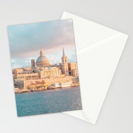 Valletta Sunset Stationery Cards