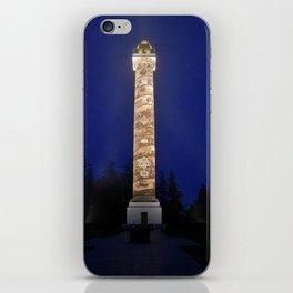 Astoria Column, blue hour fog iPhone Skin