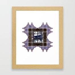 Dark Sky Window Framed Art Print
