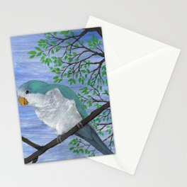 A painting of a quaker parrot Stationery Cards