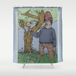 chicken hawk Shower Curtain