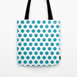 Turquoise and White Polka Dots 771 Tote Bag