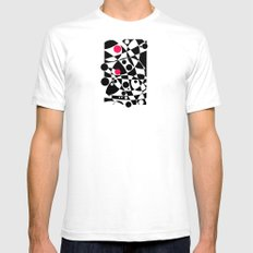Its Not Just Black or White Mens Fitted Tee White SMALL