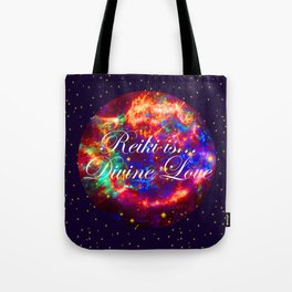Reiki is Divine Love | The Energy it Flows | Going with the Flow Tote Bag