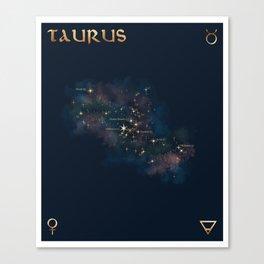 Taurus Constellation Canvas Print