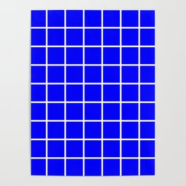 blue cube Poster