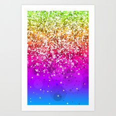 Glitteresques X Art Print