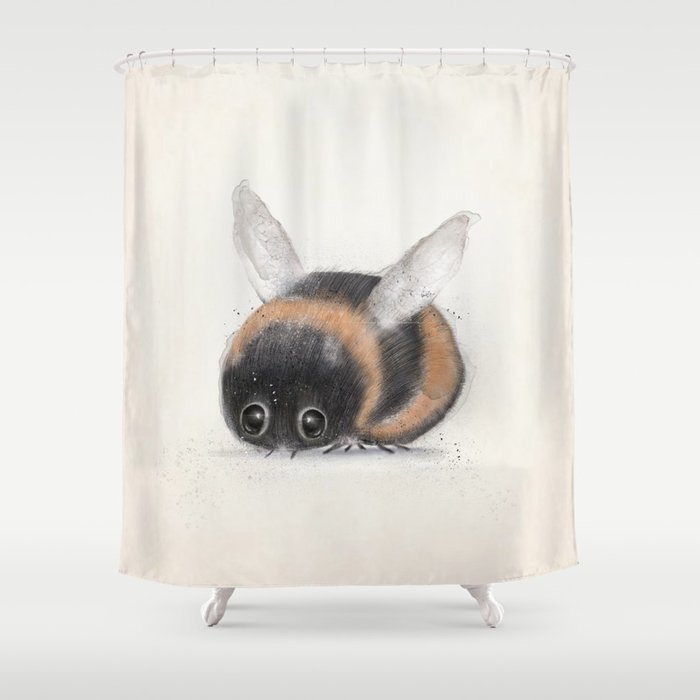 Little Bumble Bee Shower Curtain By Bribuckley