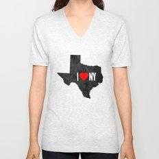 I (Heart) TX Unisex V-Neck