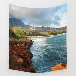 Shipwreck's Beach - Poipu, HI Wall Tapestry