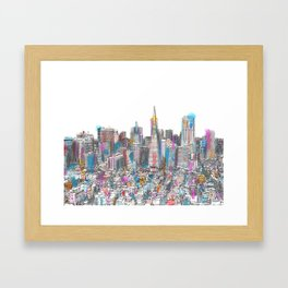 San Francisco Coit view Framed Art Print