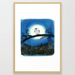 """""""Owl Sees Owl"""" cover illustration Framed Art Print"""