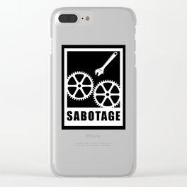 Sabotage Clear iPhone Case