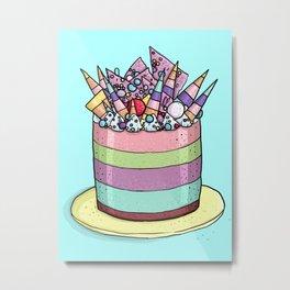 Katherine Sabbath Rainbow Cake Metal Print