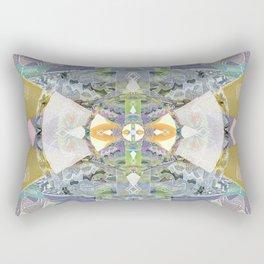 Heart of the Matter Vintage Neo Tribal Aztec/Tibetan Inspired Boho Mandala Rectangular Pillow