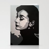 audrey Stationery Cards featuring Audrey by AUSKMe2Paint
