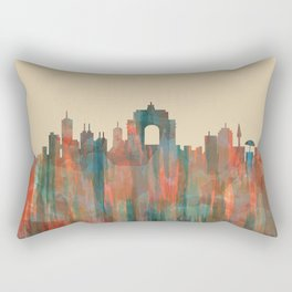 Wellington NZ Skyline - Navaho Rectangular Pillow