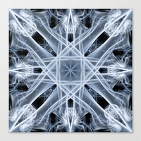 snowflake Canvas Prints featuring Snowflake by Steve Purnell