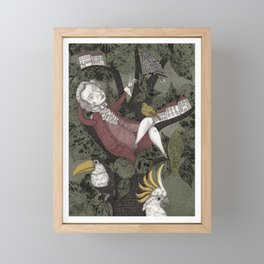 Wolfgang Amadeus Mozart--Seeing the Music Framed Mini Art Print