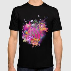 Purplescape LARGE Black Mens Fitted Tee
