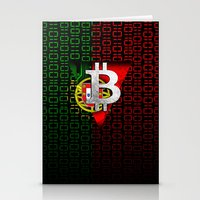 portugal Stationery Cards featuring bitcoin Portugal by seb mcnulty