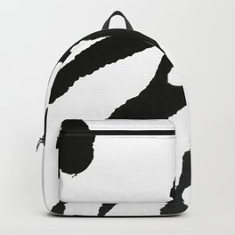 0523: a simple, bold, abstract piece in black and white by Alyssa Hamilton Art Backpack