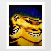 sister Art Prints featuring Sister by Serena Gailey