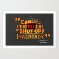 glados Art Prints featuring Googol GLaDOS 2.0 - Crapintosh Typography by hako