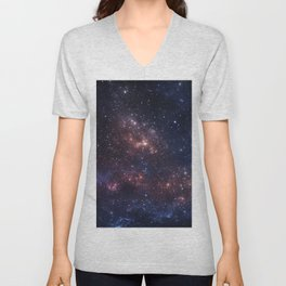 Stars and Nebula Unisex V-Neck