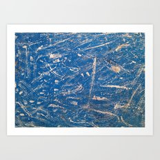 Blue Moroccan Wall Art Print