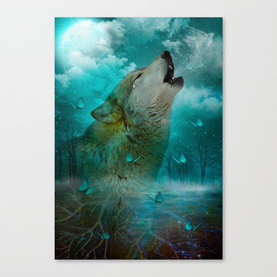 I'll See You In My Dreams (Cry of the Wolf) Canvas Print
