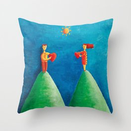 Love from  Distance Throw Pillow