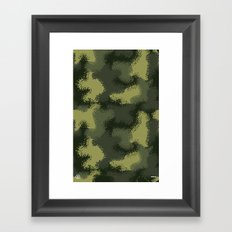 MPat Camouflage Pattern Framed Art Print