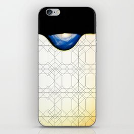 droplet with geometric iPhone Skin