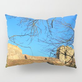 Castle Ruins on a Sunny Winters Day Pillow Sham