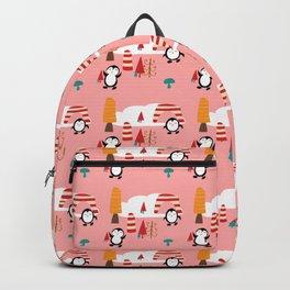 Oriana Penguin pink Backpack