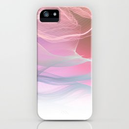 Flow Motion Vibes 1. Pink, Violet and Grey iPhone Case