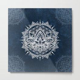 Lotus Mandala (white) Metal Print