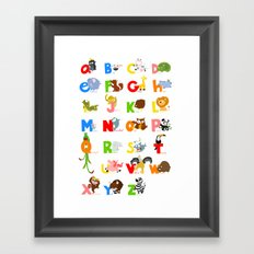ABC (english) Framed Art Print