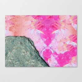 Brush Strokes / Oil Pink Canvas Print