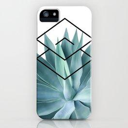 Agave geometrics IV iPhone Case